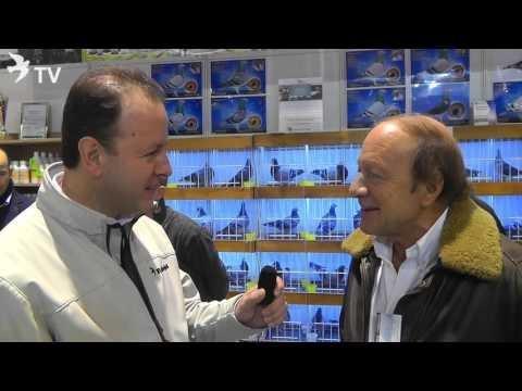 Henk de Weerd im Kurzinterview mit Alfred Berger auf der EXPOGołębie in Polen 2016 (Brieftauben)