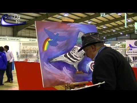 Gama Dinez a artist who also paints Racing Pigeons (on the Portugal Racing Pigeon exhibition)