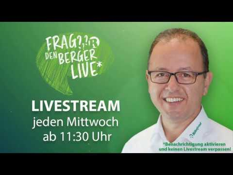 Frag den Berger LIVE auf Facebook - 20. Mai 2020