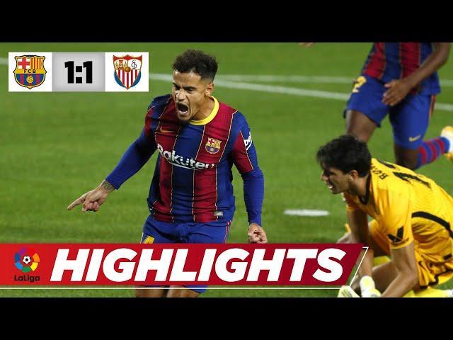 De Jong schockt Barca, Coutinho kontert sofort |FC Barcelona - Sevilla 1:1 | La Liga | Highlights