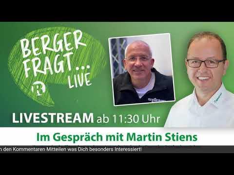 Berger Fragt LIVE auf Facebook - 29. Juli 2020 - Gast: Martin Stiens