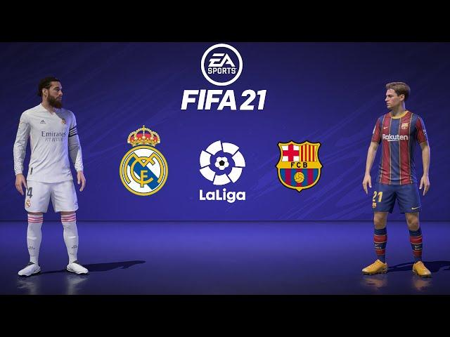 FIFA 21 | REAL MADRID Vs BARCELONA | LaLiga 2020/21 | El Classico | 25 October 2020