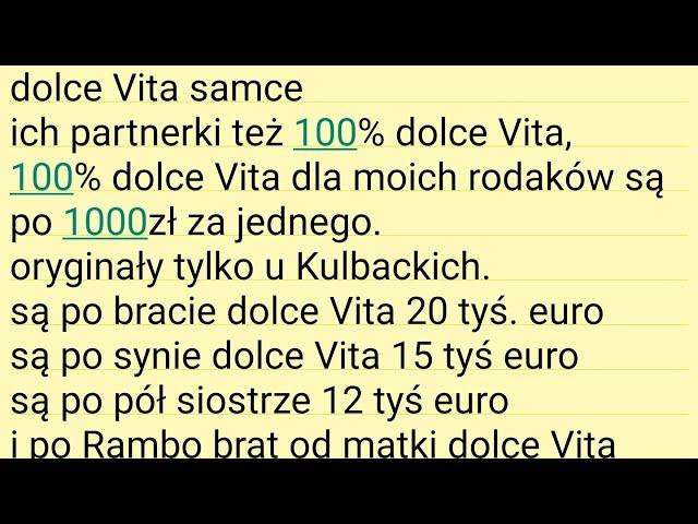 Woliera Dolce Vita LOFT { 12 Samców + rodowody & 12 cock and pedigree & 12 Männchen + 250.000 Euro