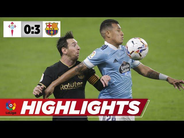 Frecher Ecken-Schlenzer und Traum-Solo von Messi | Vigo – Barcelona 0:3 | La Liga | Highlights