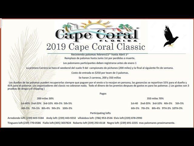 Les invitamos a participar en nuestro clasico,cape coral classic
