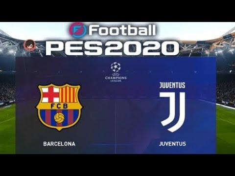 PES 2020 #1 Confronto da UEFA Champions League : Barcelona vs Juventus Gameplay PS3