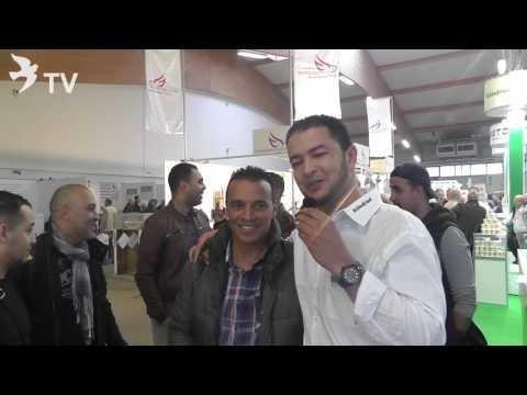 زيارة الأبطال المغاربة المقيمين في الخارج لمنصة رونفريد Röhnfried في المعرض العالمي للحمام الزاجل
