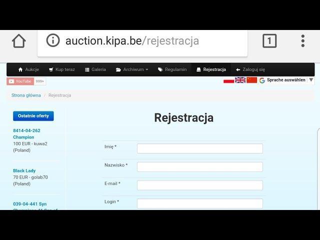 #aukcja #auction #auktion www.AUCTION.KIPA.BE tel+4915112901511
