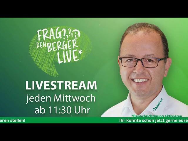 Frag den Berger LIVE auf Facebook - 27. Mai 2020