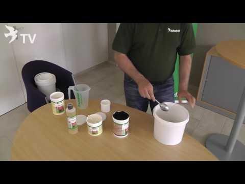 Jungtierpaket in der Anwendung mit Moorgold für Jungtauben
