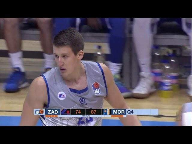POSTERIZED! Brutal dunk by Luka Božić! (Zadar - Mornar, 21.10.2018)