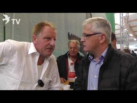 Karl Heinz Wenning im Interview mit Klaus Steinbrink auf dem Int. TaubenMarkt Kassel 2016