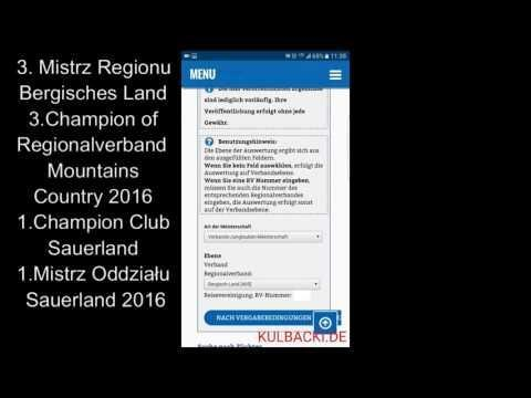 RASA KULBACKI 3.MISTRZ REGIONU BERGISCHES LAND 3.CHAMPION OF REGIONALVERBAND MOUNTAINS COUNTRY 2016
