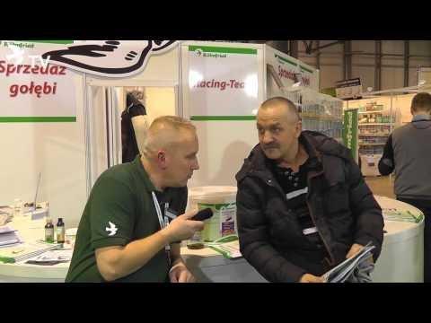 Adam Sehnke i hodowca z Ełku zadowolony z naszych produktów (Targi EXPOGołębie 2016)
